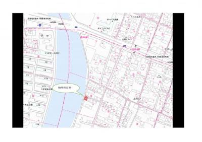 【地図】南沖洲1丁目土地(No.2)