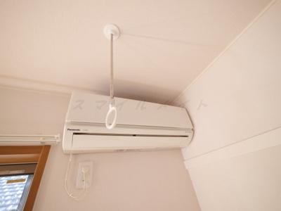 雨の日も安心の室内物干し&エアコン完備