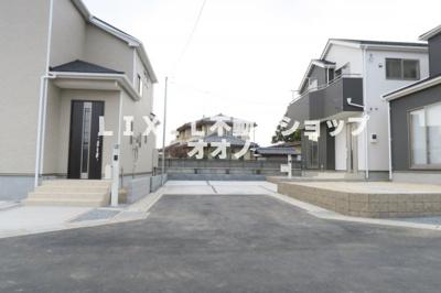 【前面道路含む現地写真】羽生市藤井上組 新築住宅全4棟 3号棟