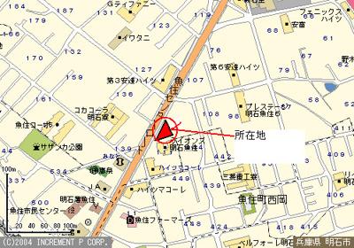 【地図】安達ハイツ店舗