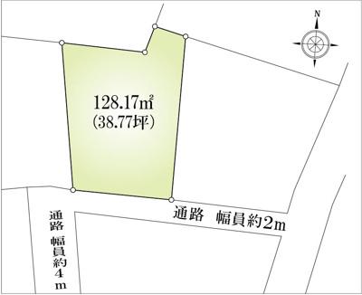 【区画図】相模原市南区上鶴間売地