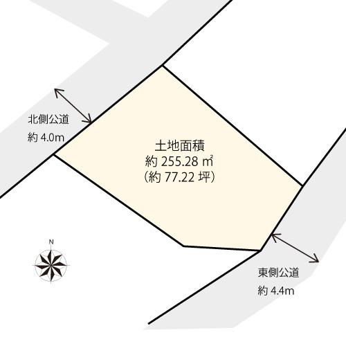 【土地図】大田区田園調布4丁目の売地