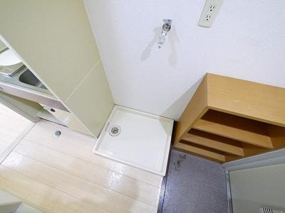 うれしい室内洗濯機置き場です。