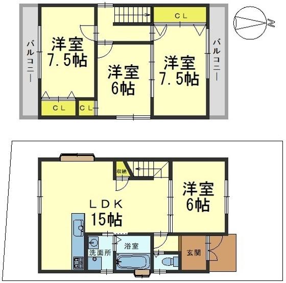 1階のLDKは6帖間と繋げて広々21帖の空間としても。
