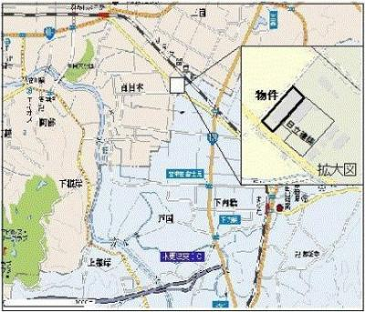 【地図】木更津市元介護施設の店舗事務所・作業所