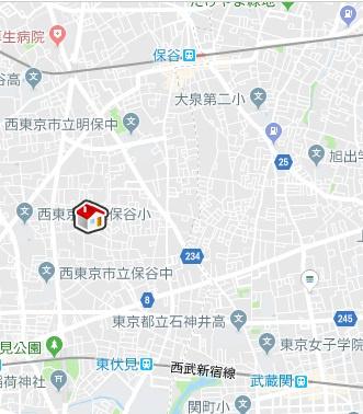 【地図】レオネクストアロハステイツ(54947-202)