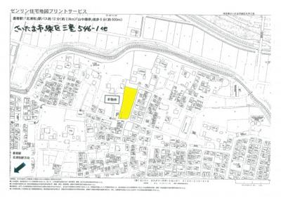 【地図】現地見学会 さいたま市緑区三室 大型開発分譲地全12棟