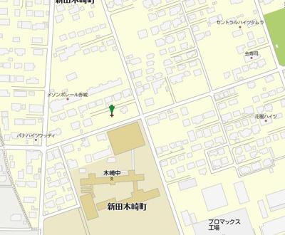【地図】太田市新田木崎町売地