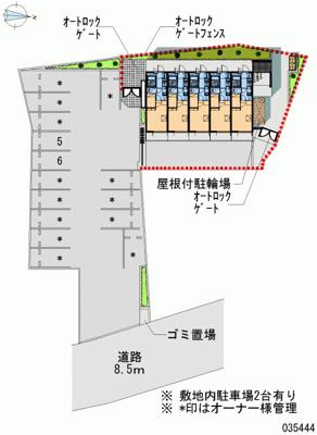 【地図】パストラル北寺尾Ⅱ
