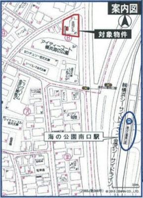 【地図】横浜市金沢区駐車場9台分付4階建ビル