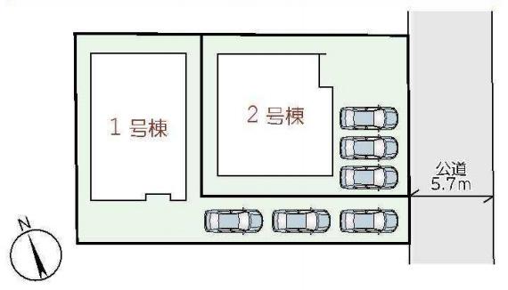 1号棟 2号棟 全2区画 住宅性能表示適合住宅 フラット35s利用可能