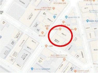 【地図】横浜中華街西門通り沿い5階建店舗ビル