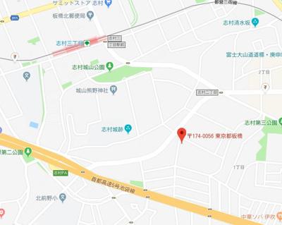 【地図】ラビアン志村