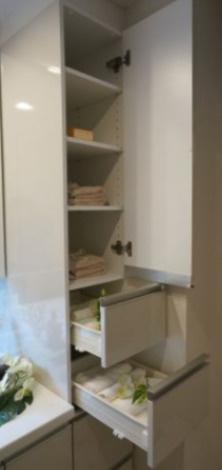 タオル等の収納スペースとして利用可能なリネン庫を全戸ご用意