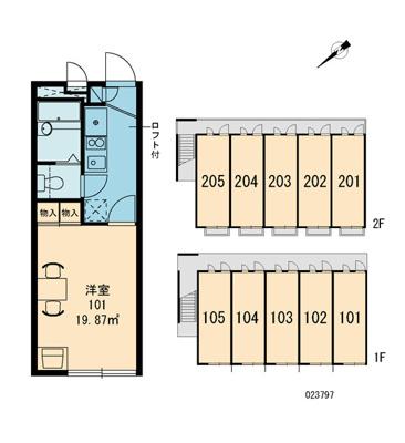 【区画図】シャトル香椎駅B