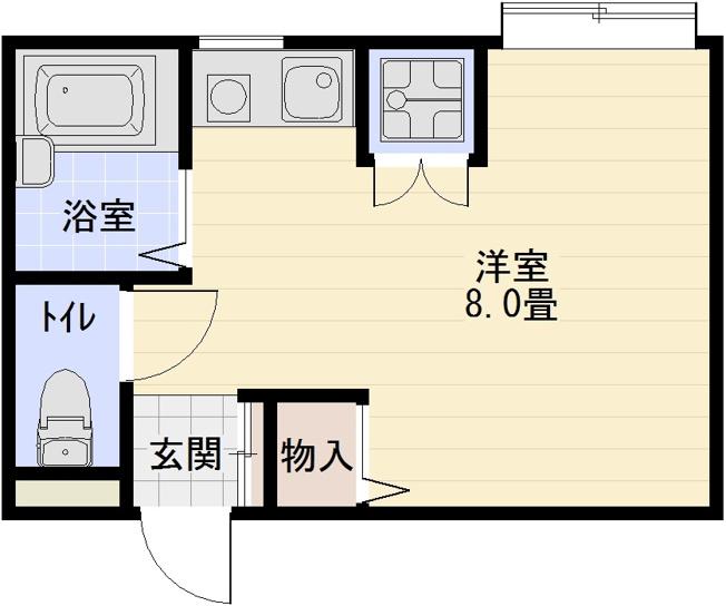 グリーンヒル103(柏原市高井田) ワンルーム バストイレ別