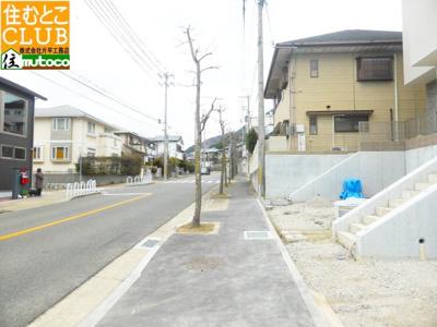 【前面道路含む現地写真】神戸市須磨区 多井畑東町 妙法寺駅 新築戸建
