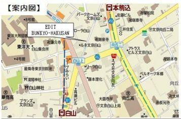 【地図】MIMAISON文京白山【エムアイメゾンブンキョウハクサン】