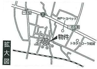 【地図】花田町一本松第1 1号地