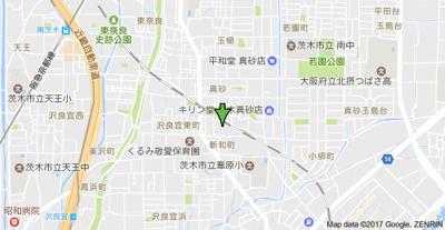 【地図】ハーベストハイツ
