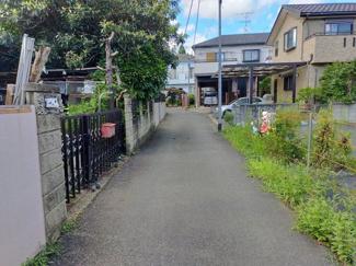 【前面道路含む現地写真】閑静な住宅街 JR外房線土気駅 敷地約60坪