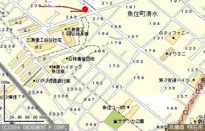 【地図】第2梅田ハイツ店舗