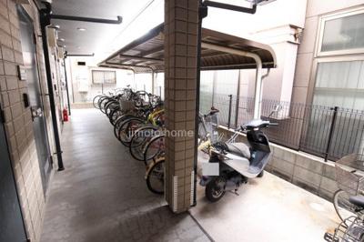 オートロック内駐輪場、屋根付き