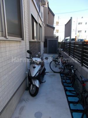 ハーモニーテラス若松町の駐輪スペース☆