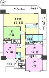 Fステージ小禄宮城壱番館 ※間取り図と現況が異なる場合、現況優先。