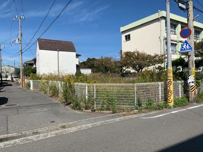 【前面道路含む現地写真】【売地】河北中学校区・56491