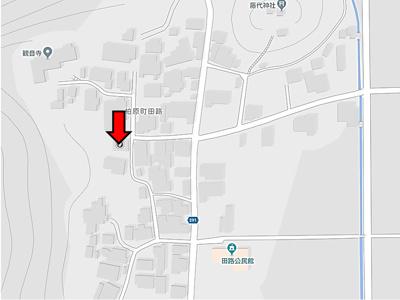 【地図】田路83坪住宅用地