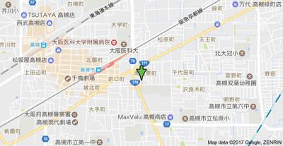 【地図】第5摂津ハイツ (株)Roots