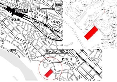 【地図】熊谷市久下熊久売地