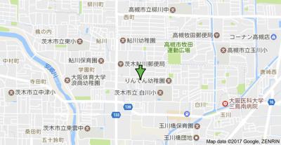 【地図】セレント茨木鮎川