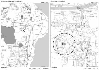 【地図】大津市小野1122-3 中古戸建