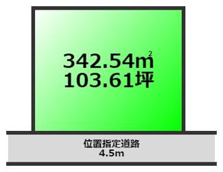 103.61坪の土地図です。