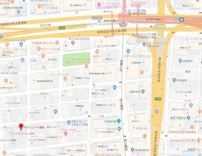 【地図】オルフェアⅤ番館