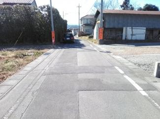 【前面道路含む現地写真】高崎市沖町売地