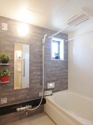 浴室乾燥機付きのバスルームです!雨の日でも安心です♪