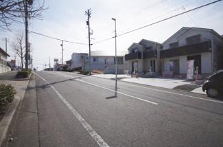 3号棟 現地(2019年2月)撮影 前面道路は東側幅員約16.0mの公道。