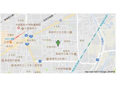 【地図】フクイハイツ