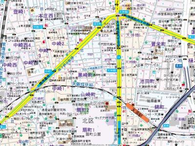 【地図】ハイツコトブキ