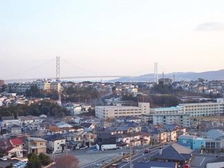 夕暮れの明石海峡大橋です!!