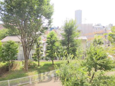 河田町ガーデン3号棟の展望です