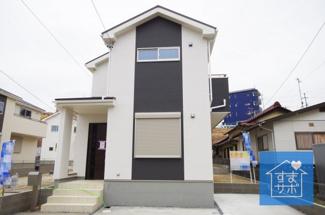 5号棟 現地(2019年2月)撮影 堂々完成しました!即入居可能♪ 敷地面積135.19㎡(40.89坪)。 駐車2台可能。