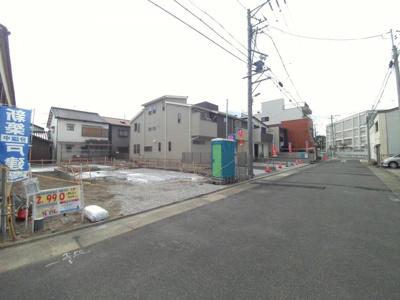2月16日撮影 前面道路を含む販売現地