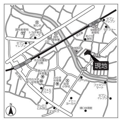 【地図】ヒューリックレジデンス調布柴崎