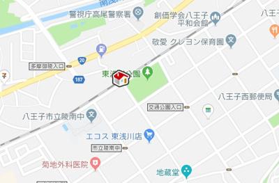 【地図】レオパレスゴリオン(43882-301)