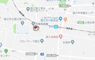 【地図】レオネクストブラウニー国立(53804-103)