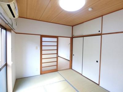 天袋付き押入れのある西向き和室6帖のお部屋です!寝具をすっきり収納できるので和室は寝室にもオススメ☆
